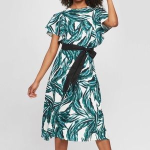 WHO WHAT WEAR Palm A-Line Dress Worn Once XL